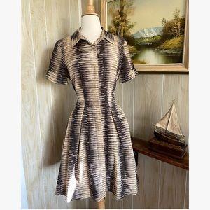 Kenneth Cole • Neutral Silk Button Down Dress